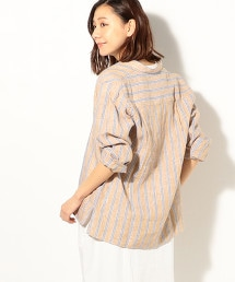 法國亞麻立領襯衫