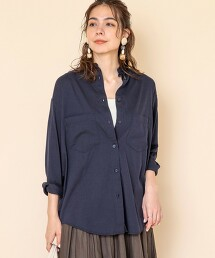 §立領 棉嫘縈 長袖襯衫