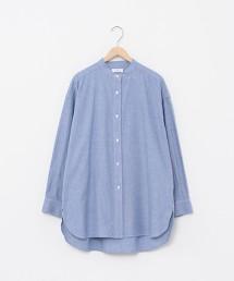 粗藍布 立領襯衫#