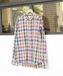 【2WAY】冬季亞麻格紋襯衫I