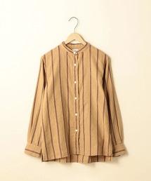 冬季亞麻直條紋襯衫