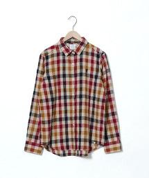 冬季亞麻格紋襯衫