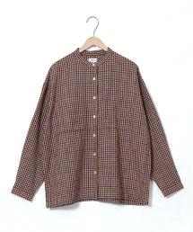 冬季亞麻立領襯衫