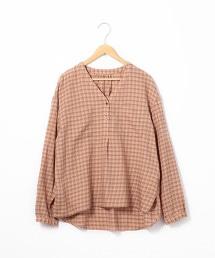 棉質 天絲 格紋罩衫