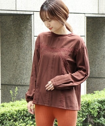 棉質嫘縈 蕾絲罩衫