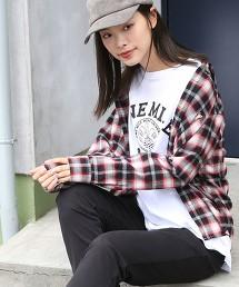 棉質法蘭絨寬角領襯衫