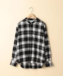 【2WAY】冬季棉立領格紋襯衫
