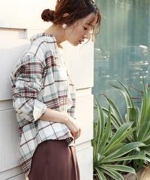 印度棉 法蘭絨格紋 立領襯衫