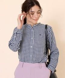 雙層棉紗 立領襯衫