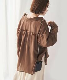 寬版 輕薄 透膚襯衫