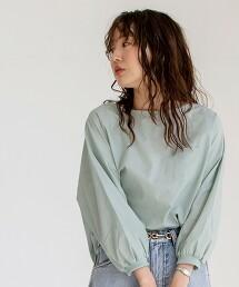 泡泡袖 口袋TEE 罩衫(蓬鬆袖/時尚/口袋TEE)
