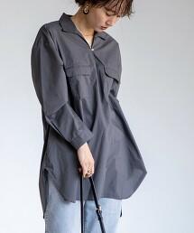 USA美國棉 開襟領 束腰上衣 襯衫