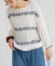Market 刺繡罩衫