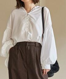 縮摺袖 罩衫