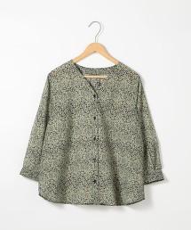 LIGHT&COOL植物印花7分袖套衫