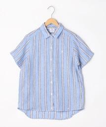 法國亞麻五分袖襯衫