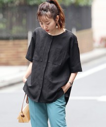 【可成套】亞麻 嫘縈 短袖襯衫#(襯衫式外套/寬版)