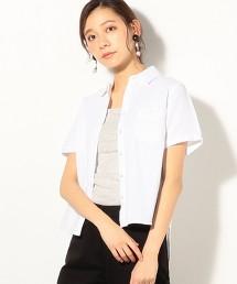 斜紋布雙層棉紗短袖襯衫