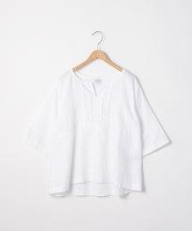 法國亞麻打摺套衫