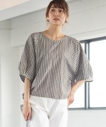 棉麻直條紋套衫