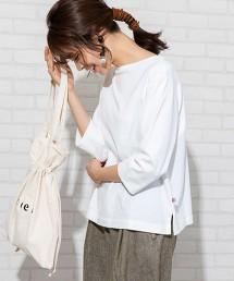 USA美國棉 船型領 7分袖T恤