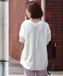 TC鬆餅織雙色車縫線罩衫