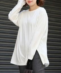 USA美國棉斜開衩長袖T恤※因吊牌產地表示有誤,此商品實際的產地為中國製造