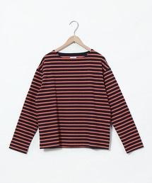 橫條紋 船型領 T恤