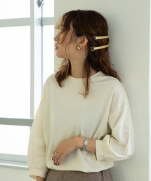 蓬鬆袖7分袖棉上衣