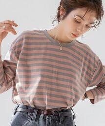 接結 橫條紋 長袖T恤(內搭)