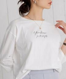 LOGO 印花 7分袖T恤