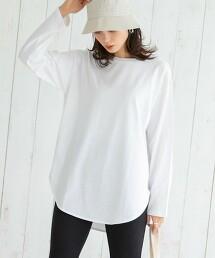 COOLMAX 全年可穿 弧形下擺長袖T恤#(層次風格/長TEE)
