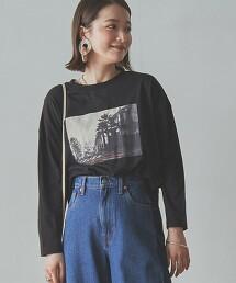 旅行相片印花 長袖T恤