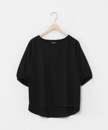 抗髒汙 泡泡袖 5分袖T恤※因吊牌產地表示有誤,此商品實際的產地為中國製造
