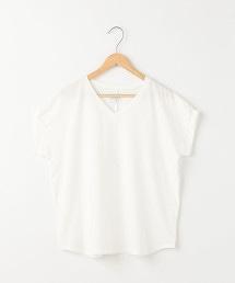 【接觸涼感】梨地V領罩衫