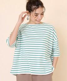 6分袖 橫條紋T恤