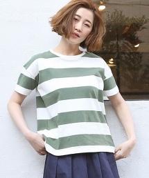 USA棉橫條紋T恤