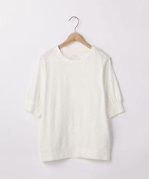 起毛棉節5分袖T恤