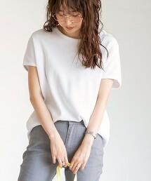 圓領短袖鬆餅織T恤 素TEE#