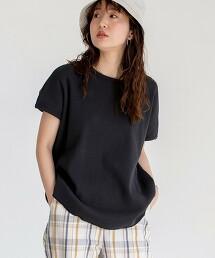 圓領短袖鬆餅織T恤#
