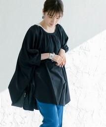 格子蕾絲 寬版 T恤