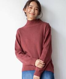 【6色】肩鈕釦 高領 毛衣#