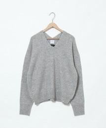 【可手洗】羔羊毛V領針織衫