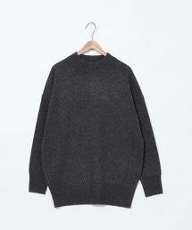 【可手洗】羔羊毛圓領中長版針織衫