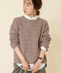 菱形麻花編織毛衣