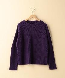 【可手洗】羊毛尼龍瓶口領針織毛衣