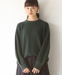 【可手洗】羊毛尼龍蓬鬆袖針織毛衣