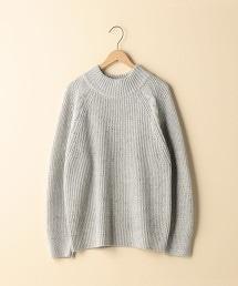 【可手洗】彩色棉節畦編高領毛衣