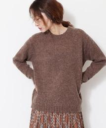 羊毛刷毛圓領針織衫