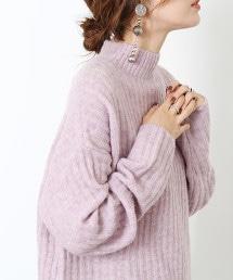 混紡寬版針織罩衫